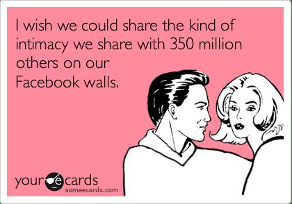 Facebook Intimacy