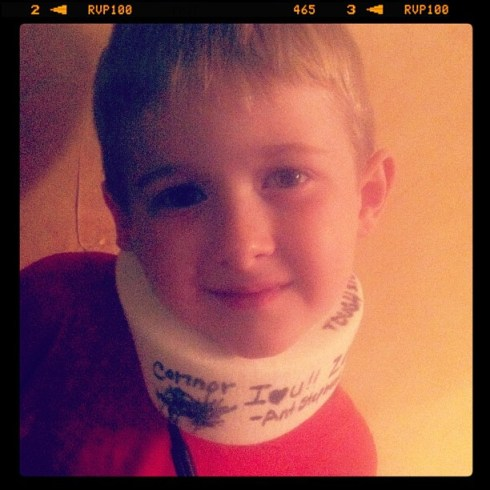 the kid neckbrace