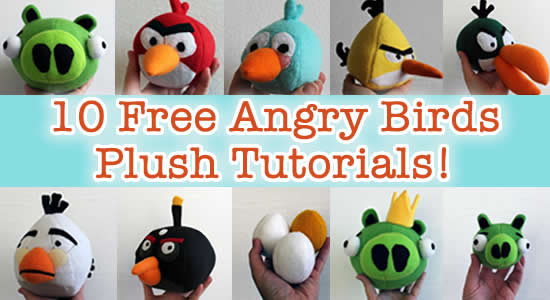 angry birds plush tutorials