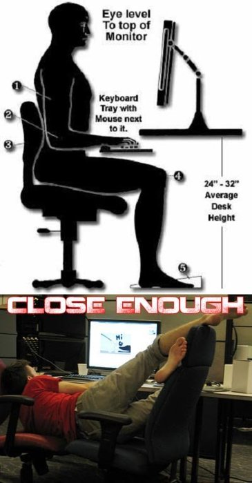 correct way to sit in front of the computer