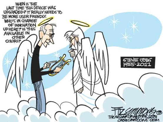 Steve Jobs in heaven