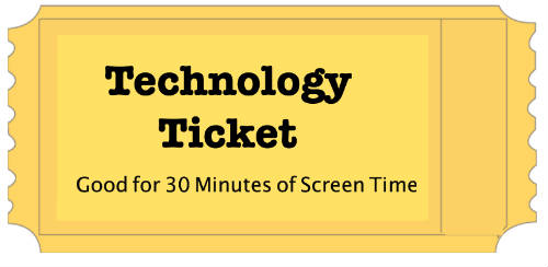 Technology Tickets – Limiting Your Child's Screen Time