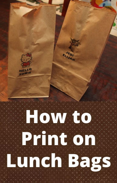 How to Print on Lunch Bags