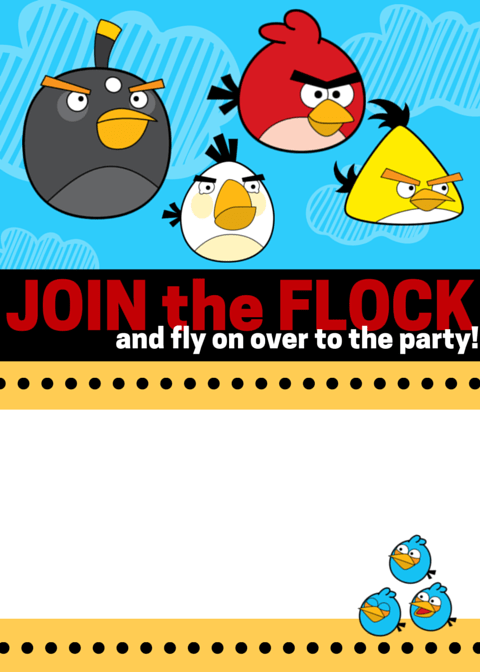 join the flock angry bird invitation