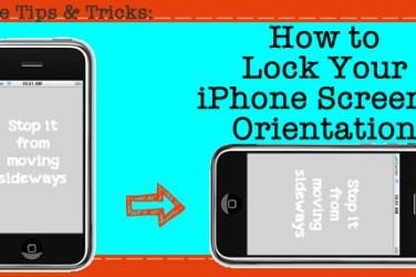 lock iphone screen orientation