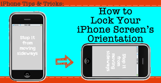 lock iphone screen orientation