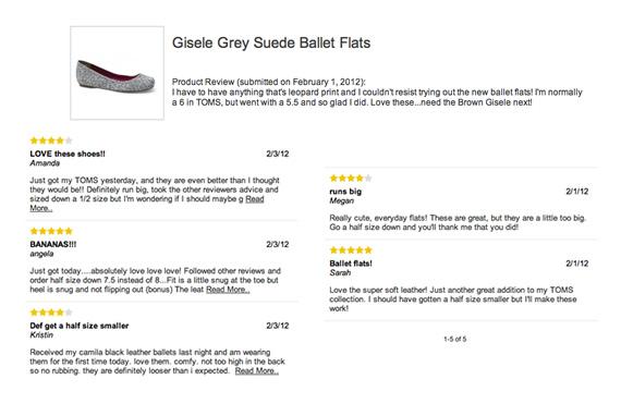 toms ballet flat review half size
