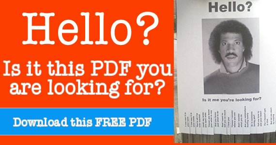 Hello Is It Me You Are Looking For – Lionel Richie Wanted Poster Free Printable