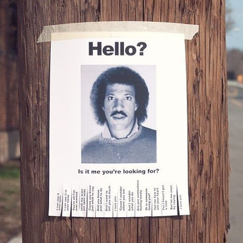Poster of Lionel Richie Hello on Post