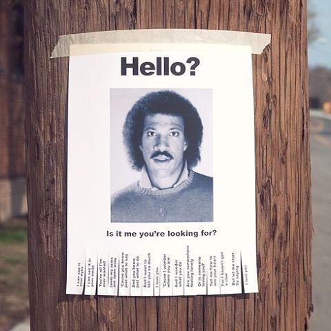 Hello Lionel-richie-missing-poster