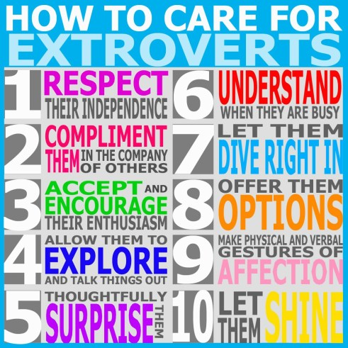 how to care for extroverts