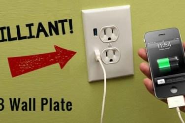 usb wall plate