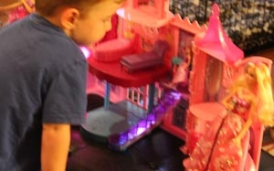bro playing barbies