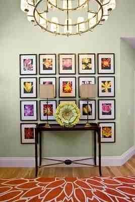 Nice and neat organized wall photos