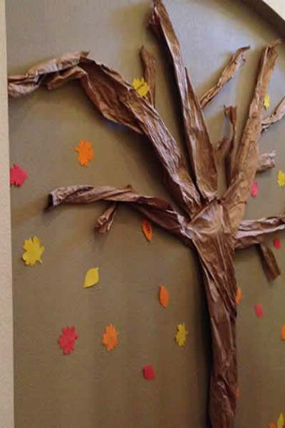 How to Make a Wall Thankful Tree