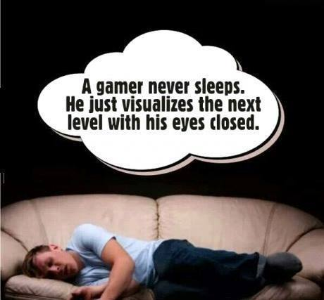 gamer sleeps