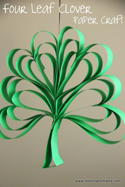 four leaf clover st patricks day craft