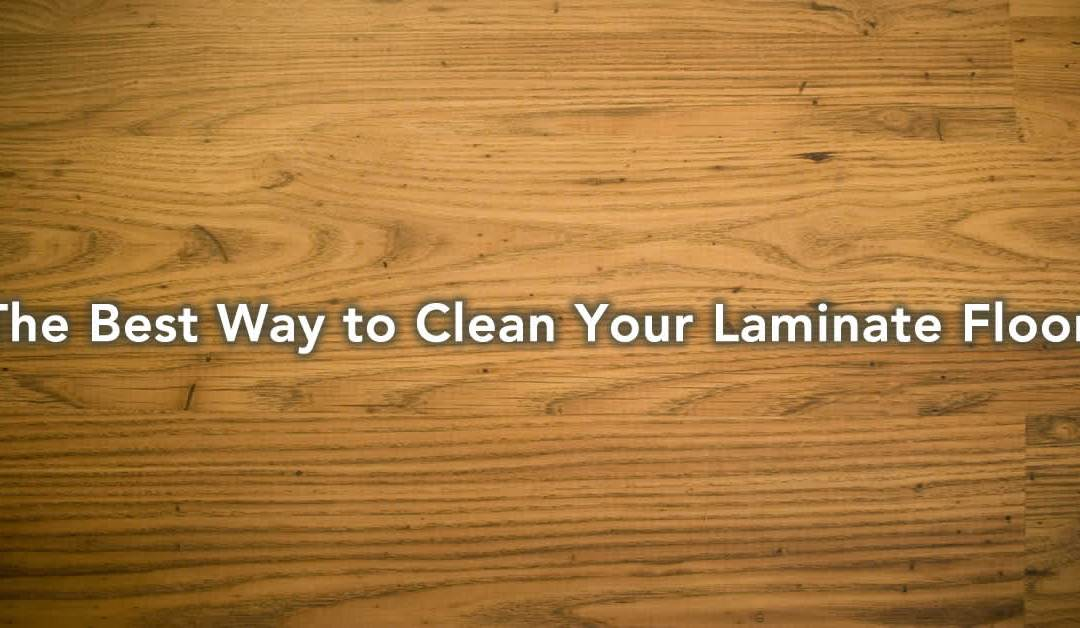 how to clean sticky laminate floors