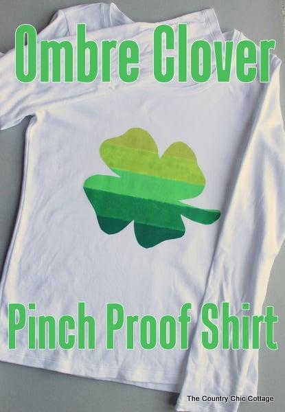ombre clover shirt