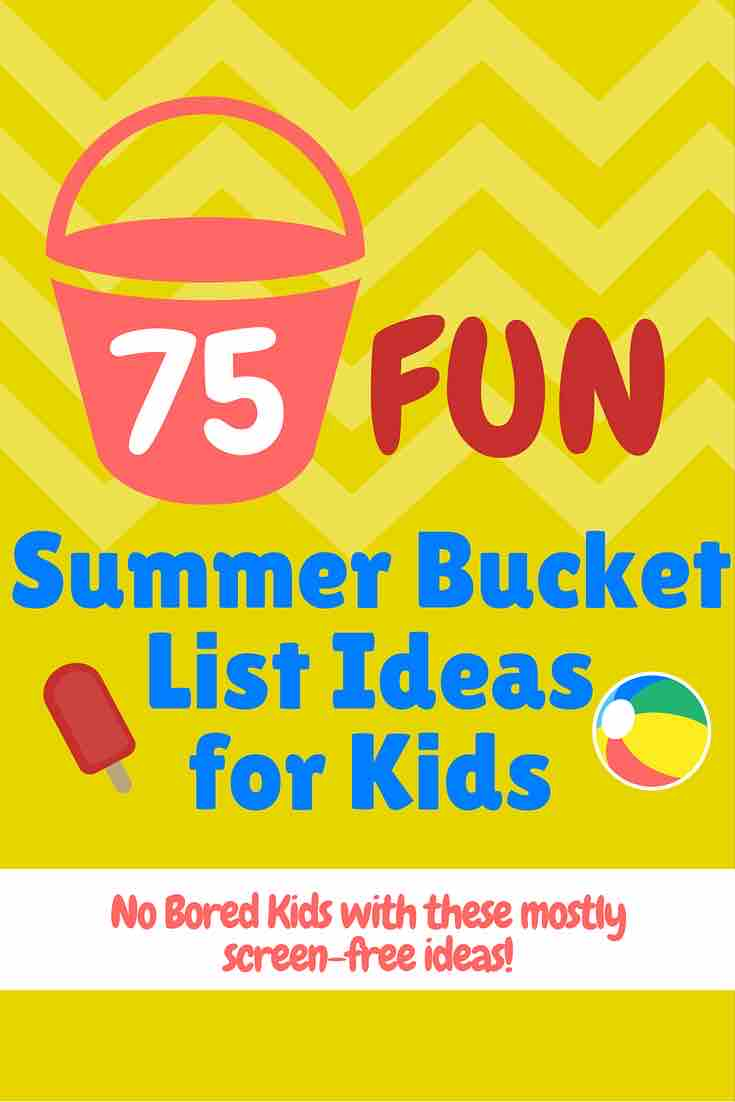 kids summer bucket list ideas