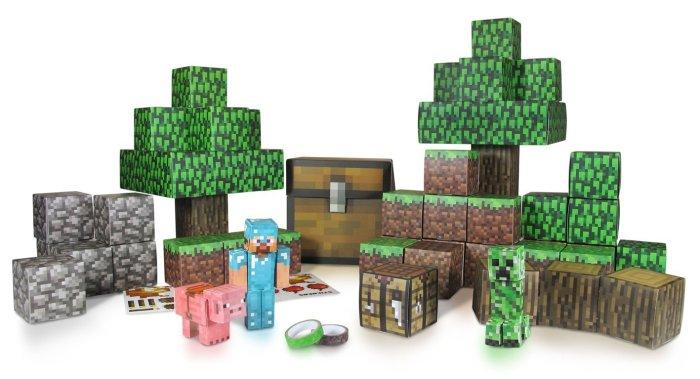 minecraft party paper landscape