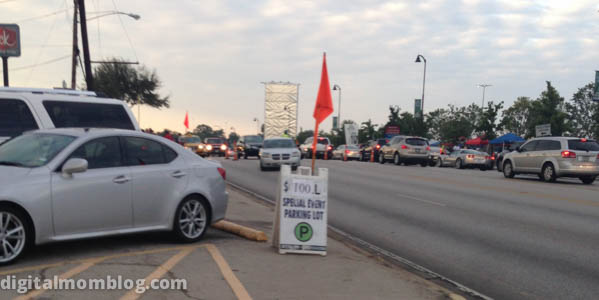 Dallas Cowboys Football Game Parking Lot $100 Sign