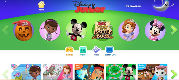 Disney Junior Toddler Website