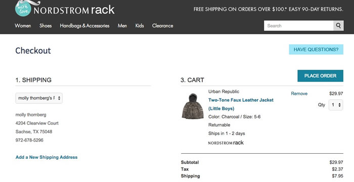 nordstrom rack toddler coat