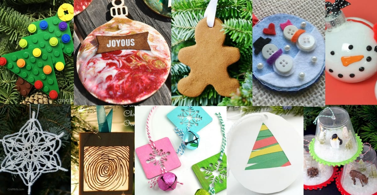 Diy Christmas Ornaments To Make With The Kids Easy And Fun