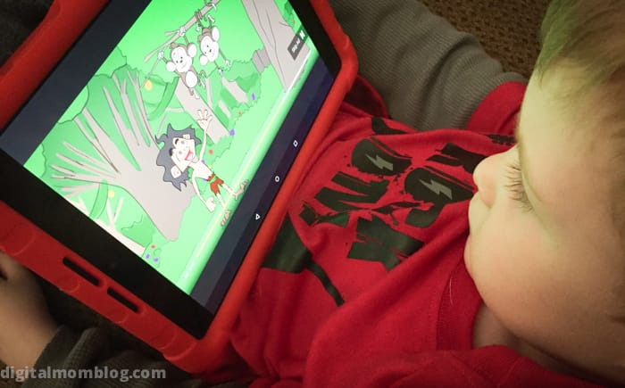Playing with YouTube Kids App