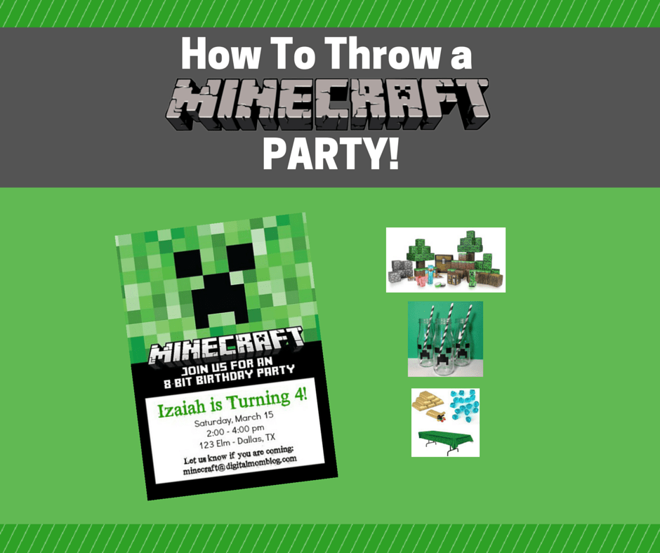 How to Throw a Minecraft Party
