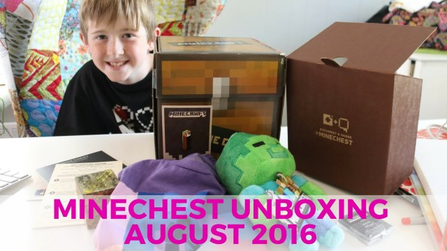 minecraft mine chest unboxing