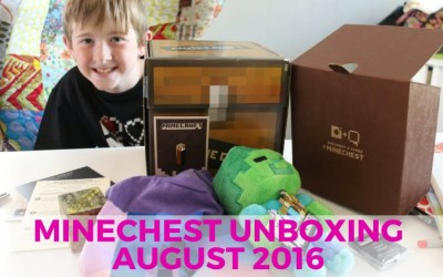 Minecraft Mine Chest Unboxing – August 2016