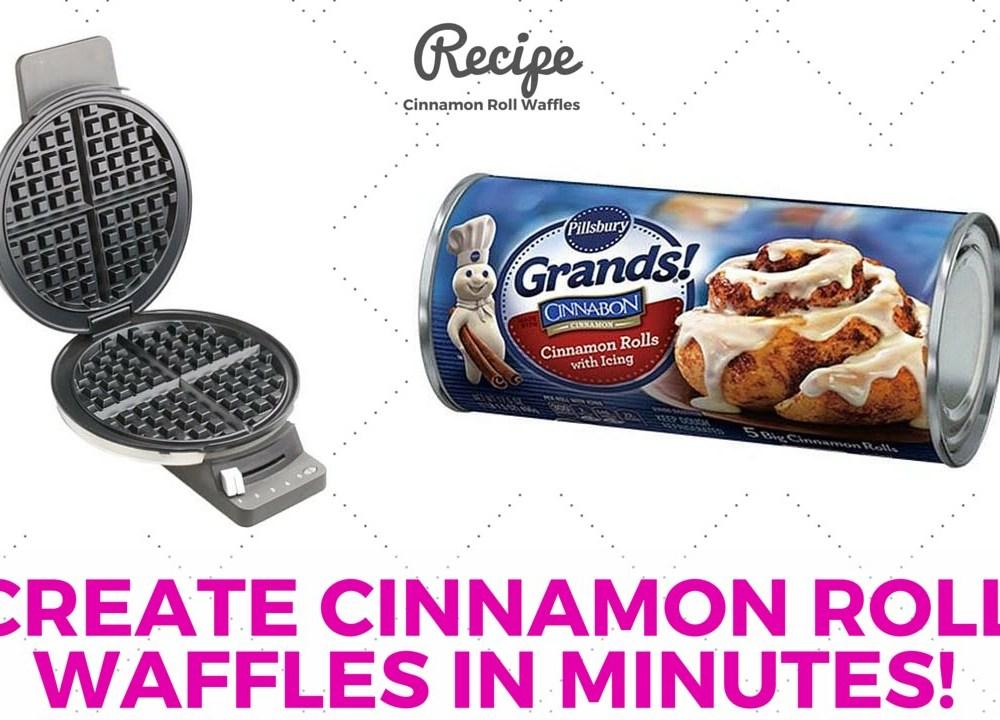 Make Cinnamon Rolls in a Waffle Maker – Brilliant Breakfast Hack