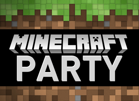 Evite Minecraft Invitation Graphic