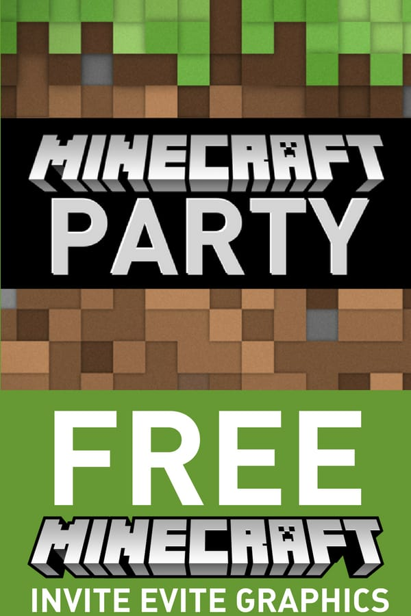 Digital Invitations Free minecraft graphics