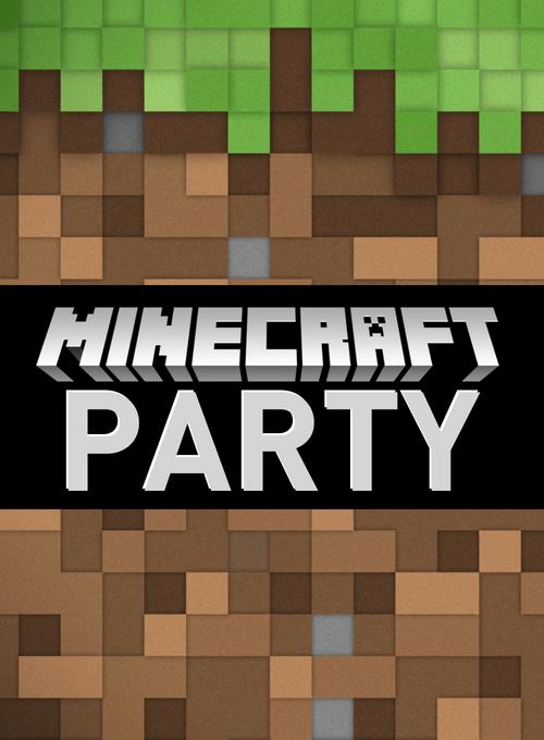 Minecraft graphic for invitations 500x680 evite size