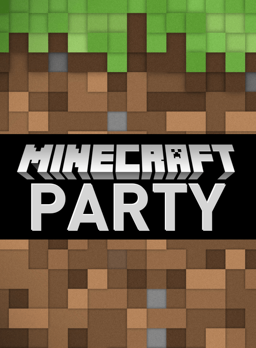Free Minecraft Birthday Invitations Personalize For