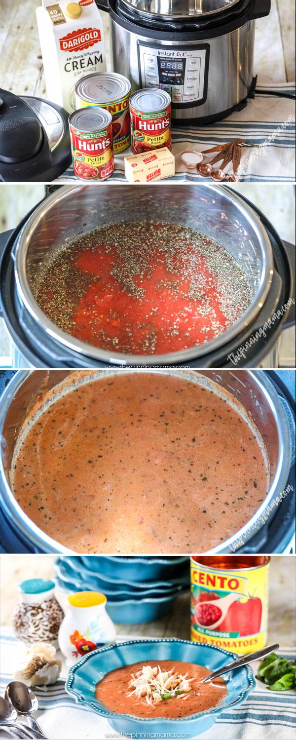 Best Instant Pot Tomato Basil Soup