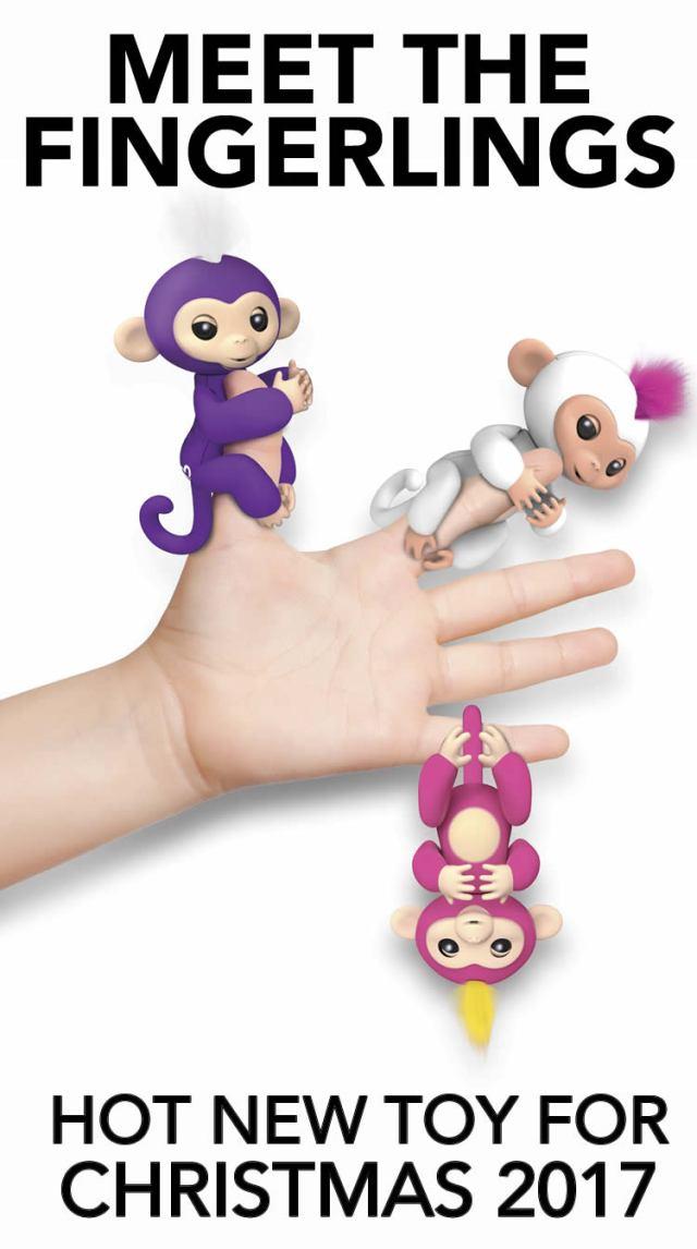 Hot new toy for 2017 christmas fingerlings