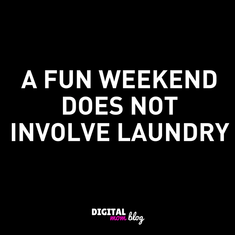 fun weekend laundry meme
