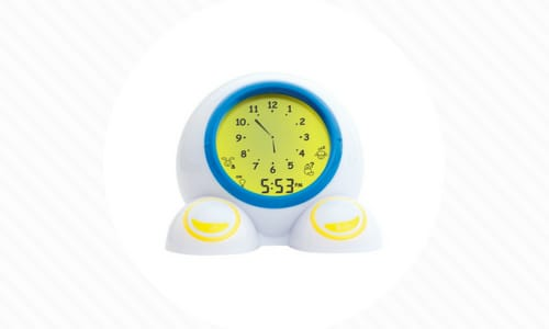 Teach Me Time Talking Alarm Clock for Kids Features Light Up Clock