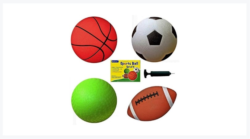 play balls football basketball soccerball