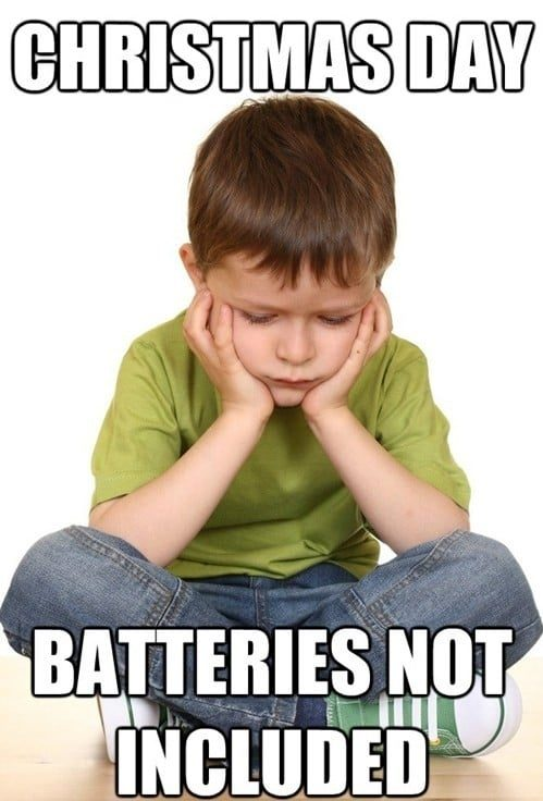 always include batteries - funny christmas memes