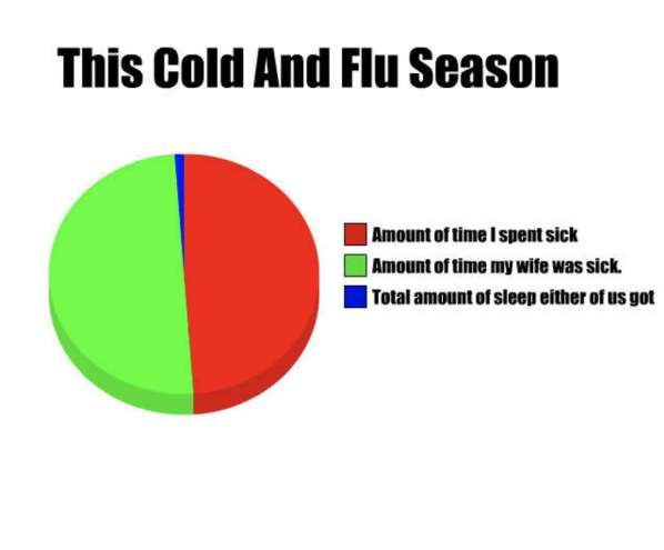 Funny Cold and Flu Season infographic