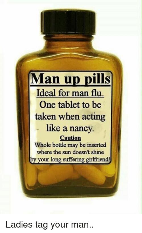 man pills for the man flu