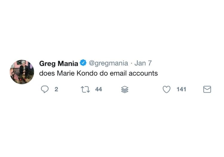Does Marie Kondo do email accounts?