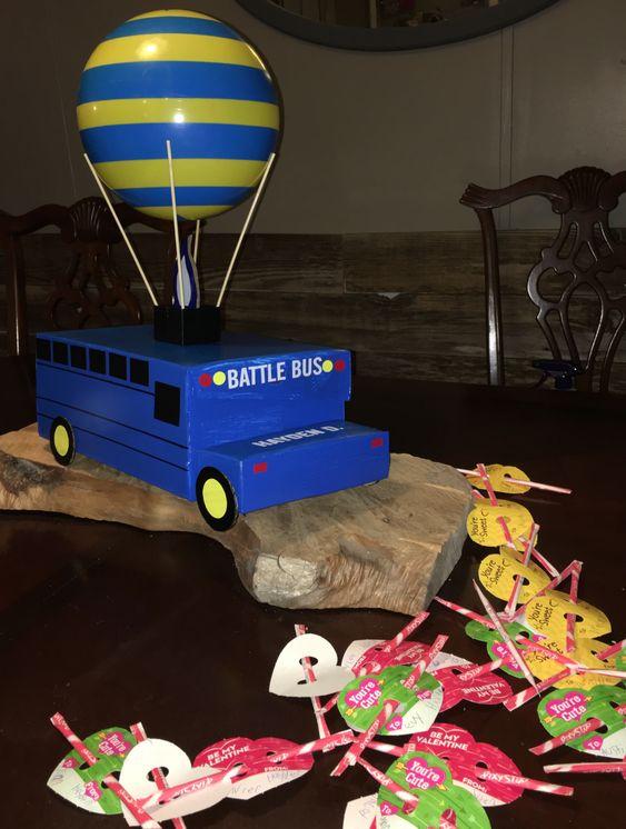 fortnite valentines box battle bus