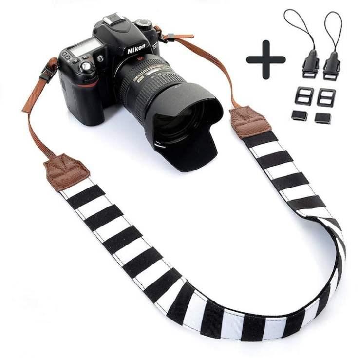 Stripes Neck Camera Strap