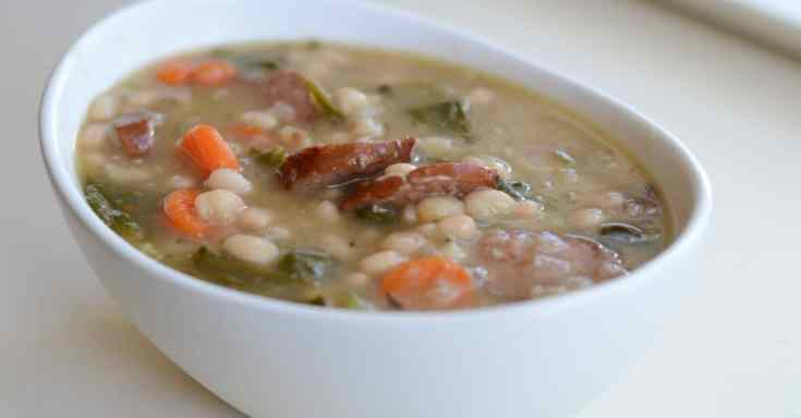 Instant Pot Sausage and White Bean Soup